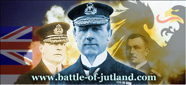Admiral Sir David Beatty, Admiral Sir John Jellicoe and Admiral Reinhard Scheer, commanders at Jutland of the most powerful naval forces in World War One.