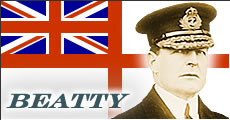 Admiral Sir David Beatty, Commander of the British Battlecruisers.